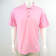 PGA Tour Men's Size XL Extra Large Pink Polo Golf Shirt Short Sleeve M429 #PGATOUR #PoloRugby