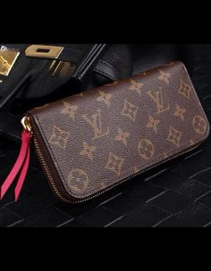 Louis Vuitton Monogram Canvas Clemence Wallet Fuchsia M60742 sale at USD 135. Free Wordwide Shipping. Check here www.luxtime.su/...