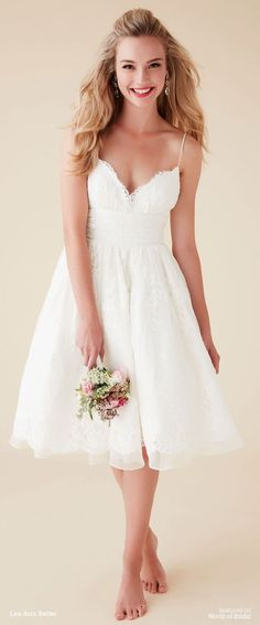 Top 24 Wedding Dress Styles for Petite Bride-to-be 2016 Wedding Dresses, White Wedding Dresses, Wedding Dress Styles, Bridal Dresses, Wedding Gowns, Reception Dresses, Lace Wedding, Wedding Dresses Simple Short, Trendy Wedding
