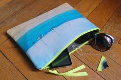 Chouette Fille - Pochette Pampelonne - Beach print