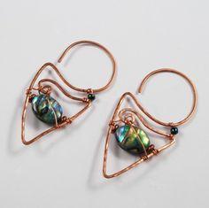 Earrings, single gem option, creative wire design