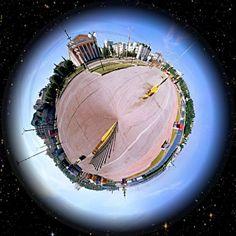 360 panorama, Krasnaya sq, Cheboksary, Russia