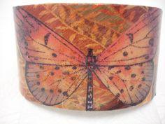 Butterfly Cuff Orange Butterfly Decoupage Cuff by cuffscouture