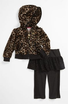 Juicy Couture Hoodie & Leggings (Infant) available @Nordstrom OMG this is cute! #pinparty #leopard