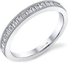 Sylvie Baguette Diamond Wedding Band SY711B