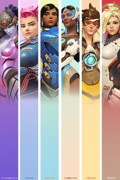 Women of Overwatch. But wait... Where is Mei!!!! And what about D.Va?!