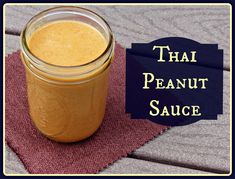 Thai Peanut Sauce (contains: Honey) Enjoy it spooned over meat and vegetable stir-fries, but I'm sure it would also make a lovely dip for vegetables, and perhaps even work well as as spread on wraps or sandwiches. Thai Recipes, Asian Recipes, Real Food Recipes, Cooking Recipes, Yummy Food, Yummy Thai, Tasty, Free Recipes, Thai Peanut Sauce