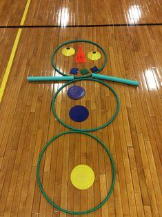 """Ss played ""Do You Wanna Build A Snowman? Pe Activities, Gross Motor Activities, Activity Games, Christmas Activities, Movement Activities, Pe Games Elementary, Elementary Physical Education, Pe Games For Kindergarten, Physical Education Activities"