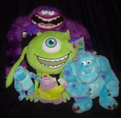 Disney Monsters Inc. Monsters University Lot Of 5 NWT Stuffed Animal Plushies #Disney
