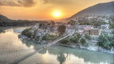 The starting point for the Char Dham Yatra of Uttarakhand, Rishikesh is a small town in the state of Uttarakhand. It is not only a popular pilgrimage centre but also an ideal tourist destination for those interested in adventure sports like trekking and white river rafting. People often visit Rishikesh for spiritual awakening, #yoga and meditation. #Rishikesh | #TravelToIndia | #Uttarakhand