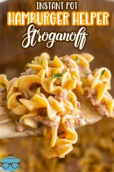 This Instant Pot Hamburger Helper Stroganoff is the homemade version of the popular box dinner mix. Still easy to make with simple and tasty ingredients! Dinner Recipes Easy Quick, Instant Pot Dinner Recipes, Quick Easy Meals, Hamburger Helper Stroganoff Recipe, Beef Stroganoff, Instant Pot Pressure Cooker, Pressure Cooker Recipes, Instant Cooker, Beef Recipes