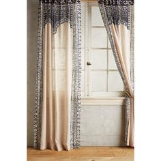 Anthropologie Cordelia Curtain ($98) ❤ liked on Polyvore featuring home, home decor, window treatments, curtains, curtain, taupe, dark gray curtains, anthropologie home decor, dark grey curtains and anthropologie