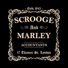 Scrooge and Marley Accountants T-Shirt - Bah Humbug! Professionally screen printed on a high quality, 100% pre-shrunk cotton Gildan tee. Available in assorted sty