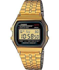 3b3a14946184 Casio A159WGEA-1VT Vintage Black   Gold Watch