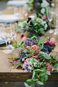 berry table garland wedding - Google Search