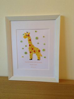 Giraffe button art