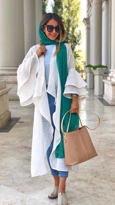 street fashion in iran , women's fashion in iran تیپ اسپرت دخترانه ایران Modern Hijab Fashion, Street Hijab Fashion, Abaya Fashion, Muslim Fashion, Modest Fashion, Fashion Outfits, Womens Fashion, Fashion Fashion, Mode Turban