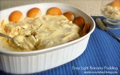 Here's an easy light banana pudding recipe that is sweet, creamy and delicious with 218 calories and 6 Weight Watchers PointsPlus
