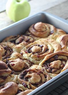 Cranberry Apple Sticky Buns - FoodBabbles.com