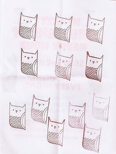 owl stamp by thomas line, via Flickr