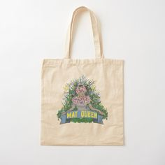 Printed Tote Bags, Cotton Tote Bags, Cotton Fabric, Queen, Art Prints, Things To Sell, Art Impressions, Cotton Textile, Fine Art Prints