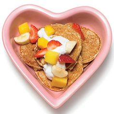 Valentine's Day Sweet Pooch Pancakes #valentines #pets #dogtreat #cookingfordogs