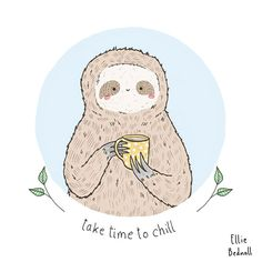 funny-sloth-tea-chill-mug
