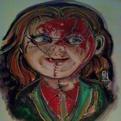 Chucky Illustration Watercolor