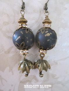 Black and Gold Umbrella earrings by Bridget Blue™