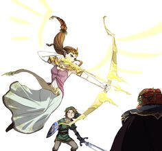 Zelda is more kick ass than she is credited for.<<<< Only in Twilight Princess,  Ocarina of Time, Wind Waker, and Hyrule Warriors.
