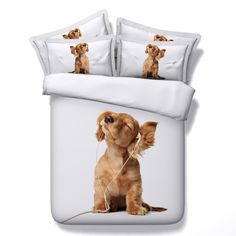 >> Click to Buy << All kinds of dog 3D Bedding Sets 4/5pcs   modal Comforter Sets Tiwn Full Queen King Size Duvet Cover Bed Sheet Pillowcases #Affiliate