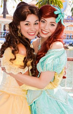 ariel and belle - disney face characters