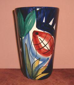 STAVANGERFLINT Norway Handpainted Vase by INGER WAAGE