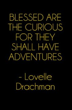 Blessed are the curious, for they shall have adventures - Lovelle Drachman Love Words, Beautiful Words, Quotable Quotes, Funny Quotes, Humor Quotes, Great Quotes, Inspirational Quotes, Prayer Ministry, New Adventure Quotes
