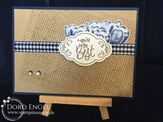 Stampin Up! Card, You're the best, Navy, Soft Suede, Crumb Cake, Burlap