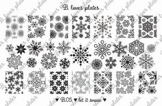 B.05 - let it snow - nail stamping plates (B. Loves Plates )