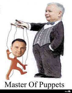 pl - Kaczyński - master of puppets Weekend Humor, Master Of Puppets, Till Lindemann, Mystic Messenger, Metallica, Haha, Disney Characters, Fictional Characters, Jokes