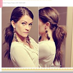 An easy way to add a little something extra to a low ponytail
