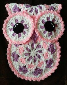 Crochet Owl Potholder pattern only by 3ThreadinBettys on Etsy