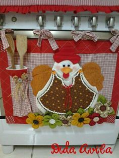 Not a fan of this, but I like the idea of sewing and crocheting an Easter or other holiday banner to display on a wall.