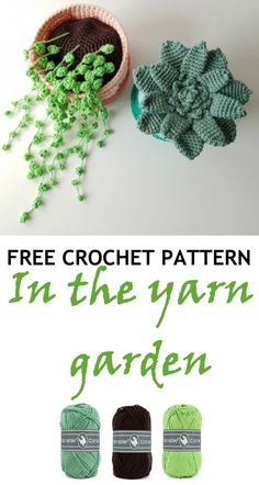Plants made with Durable Coral Crochet/Knitting Patterns ~FREE~ board for more FREE patterns. Crochet Cactus Free Pattern, Crochet Daisy, Crochet Flower Tutorial, Crochet Leaves, Crochet Flower Patterns, Crochet Home, Crochet Patterns Amigurumi, Cute Crochet, Crochet Flowers