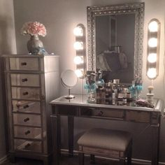 Gorgeous makeup vanity