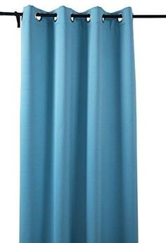 deconovo soild light blue thermal insulated blackout window curtain 52 by 63 inch window blue