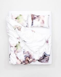 November Morning Artist Duvet Covers and Pillows by Nora Lüdin - ZigZagZurich Design Shop, Flat Sheets, Bed Sheets, Beige Bed Linen, How To Curl Your Hair, Luxury Bedding Sets, Linen Bedding, Bed Linens, Bedding Collections