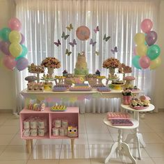 Image may contain: indoor Butterfly Birthday Party, Butterfly Baby Shower, Fairy Birthday Party, Baby Girl Birthday, 1st Birthday Parties, Butterfly Party Decorations, Girls Party Decorations, Little Box, Baby Decor