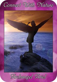 Connect With Nature ~  Archangel Ariel ~  from the Ask Angels Oracle Cards