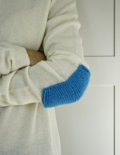 Laura's Loop: Knit Elbow Patches - The Purl Bee - Knitting Crochet Sewing Embroidery Crafts Patterns and Ideas!