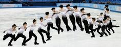 Hanyu: Triple axel/triple loop. He went full speed and had a high-quality jump.