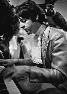Paul McCartney during the Beatles' Mad Day Out photo shoot, July 28th 1968.