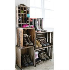 Upcycling Wood Crates Into Clever Storage- DIY Organizing Idea - Country Living